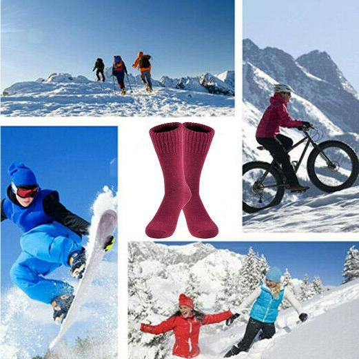 3 Wool Heated Winter Thermal Boots Socks Womens