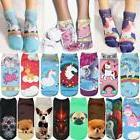 3D Print Unicorn Women Ankle Socks Clothing Accessories Casu