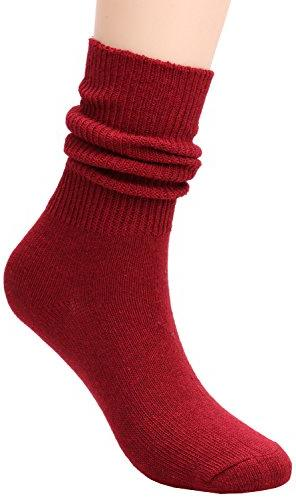 TINTAO Pairs Women Comfortable Crew Slouch Knit Cotton Socks,5-10