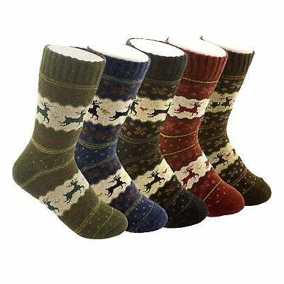 5 pairs womens knit warm casual blend