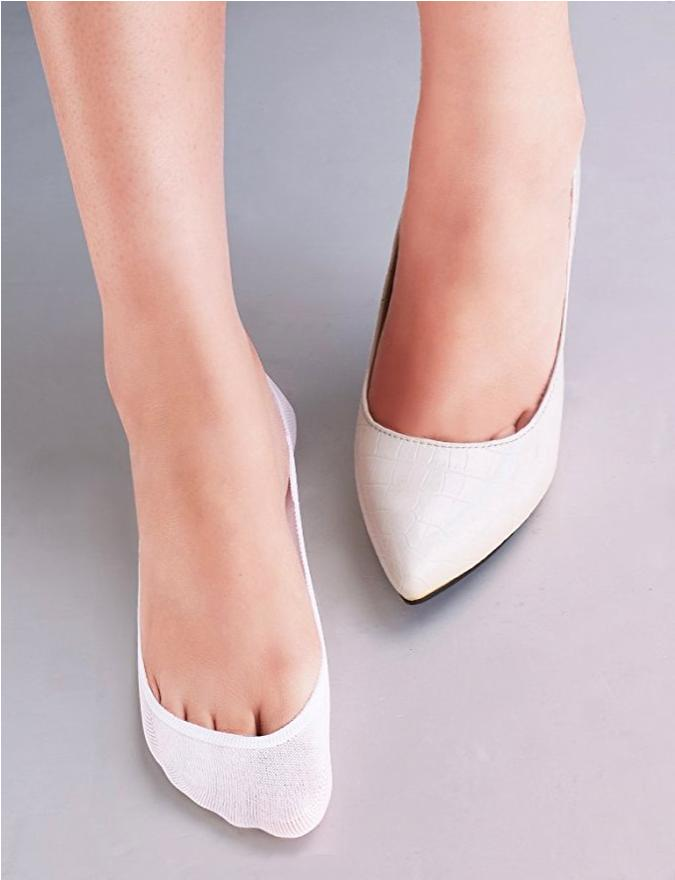 6 Low Cut Nonslip Invisible No Show Liner Socks for Flats