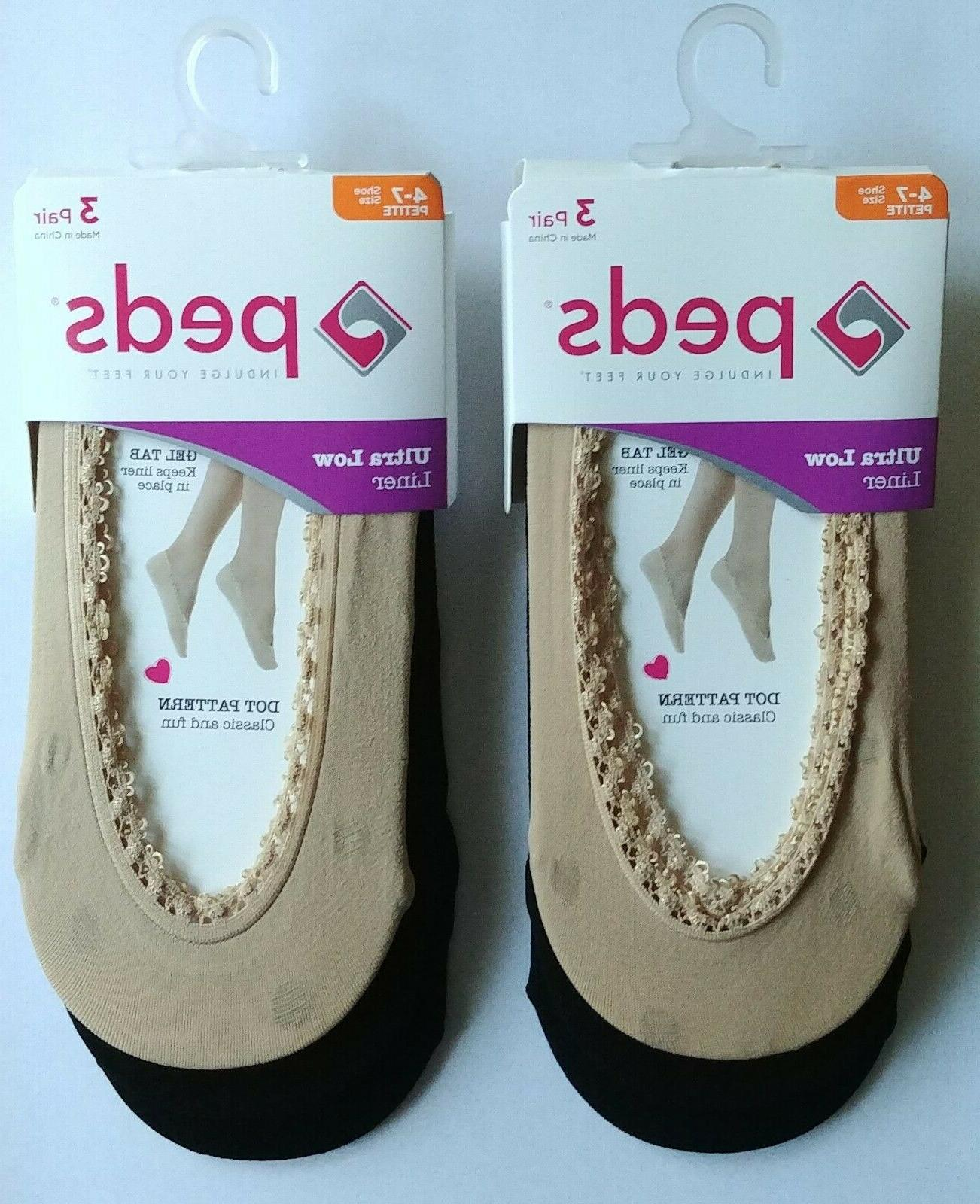 6 pair womens ultra low no show