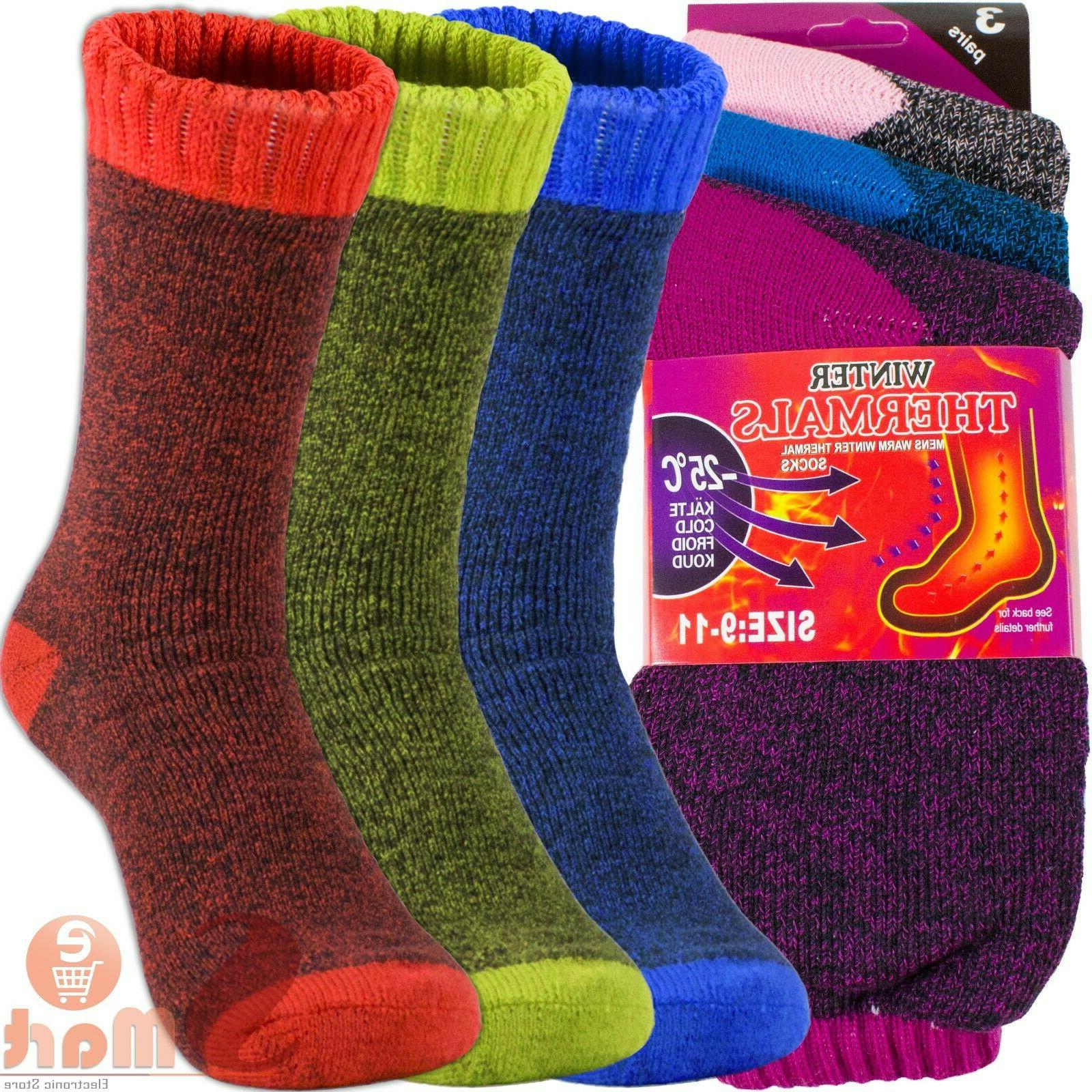 6 pairs womens winter warm thermal heated