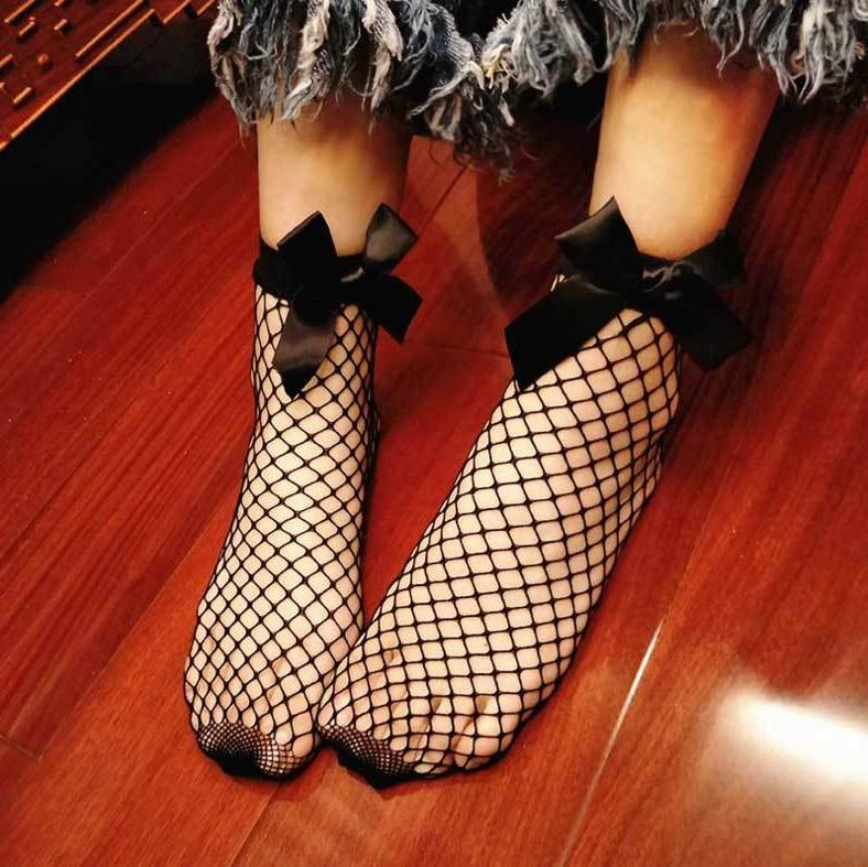 Fishnet SOCKS Mesh Lace Stockings Short Ankle Soft