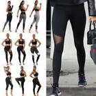 Black Mesh Leggings High Waist Yoga Pants Pocket Fitness Spo