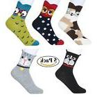 Cartoon Cute Animal Socks for Women Girls, akiido 5 Pack Col