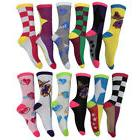 Colorful Novelty Socks Womens Apparel Cotton Blend Silly Cre