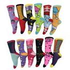 Colorful Novelty Socks Womens Apparel Cotton Polyester Silly
