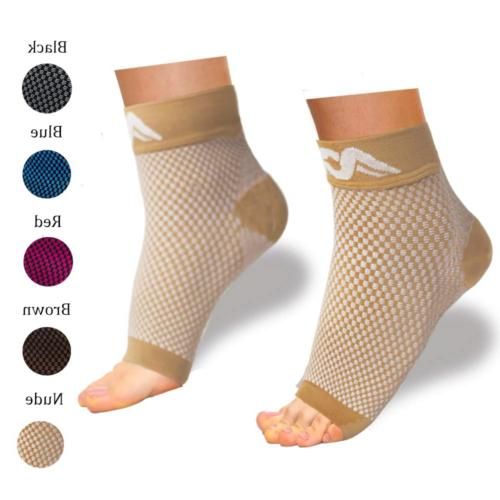 ACTINPUT Compression Foot Sleeves for Men & Women - Best Pla