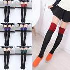 Fashion Women's Knit Socks Thigh High Solid Over the Knee Sl