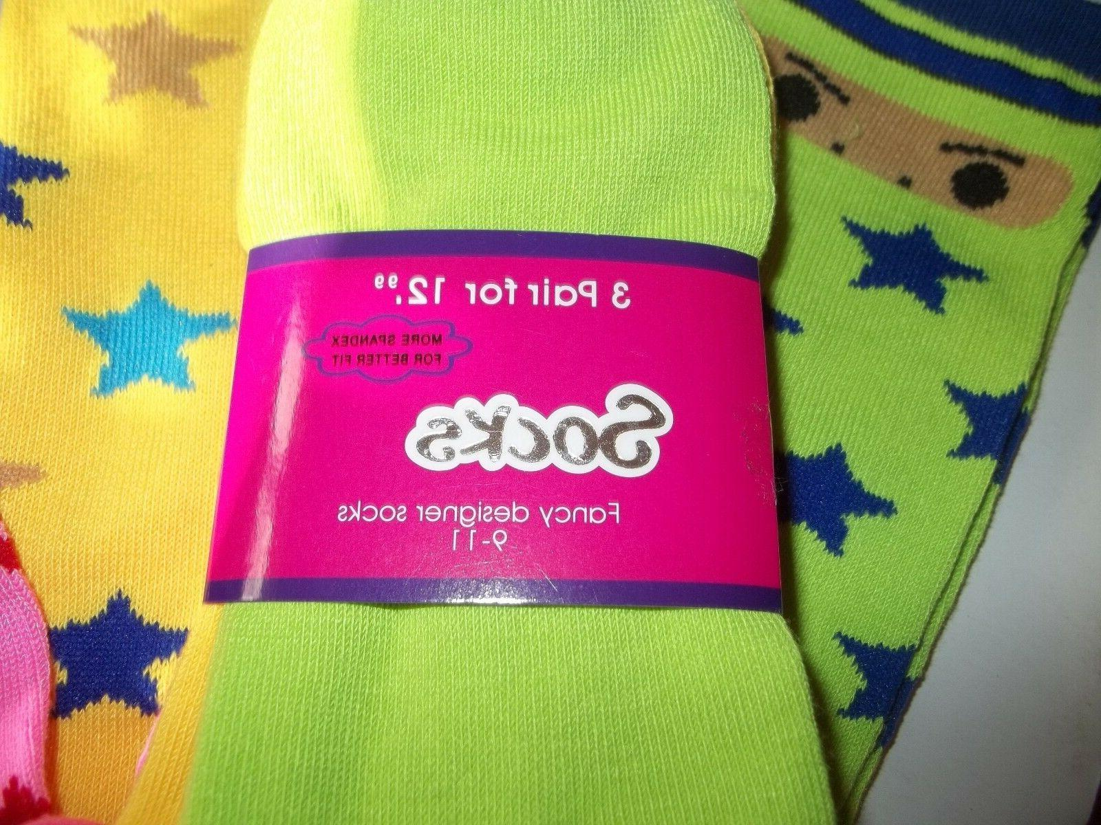 Frenchic Socks Womens 9-11 Mixed Colors Novelty pac