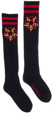 Sourpuss Hail Pizza 17 inch Socks Novelty Roller Derby Alter