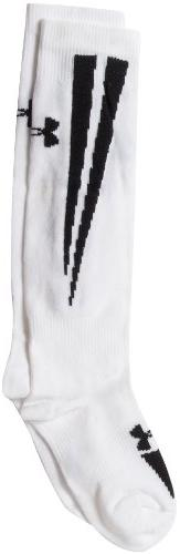 Under Armour Ignite Soccer Over the Calf Socks, White/Black