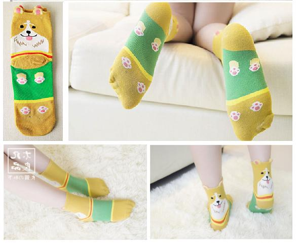 women cotton casual kawaii sock slippers socks