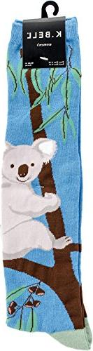 K. Bell Women's Fun Novelty Design Knee High Socks, G'Day Ko