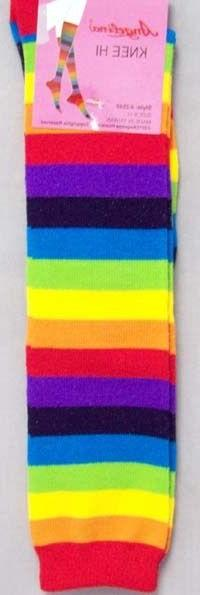 Knee Highs For Women -Teens Rainbow Color  - Gifts
