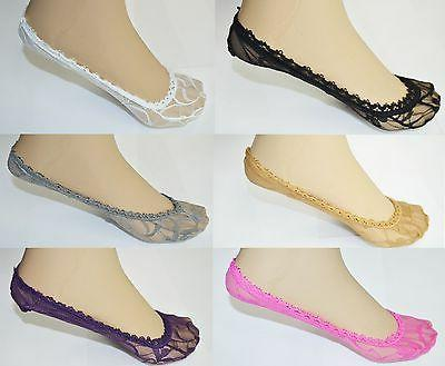 Lace Antiskid Invisible Liner No Show Peds Low Cut Socks for