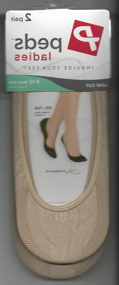 Peds Liner Loafer Sock Nylon Low Cut Set of 2 Plus Size Wome