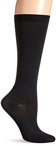 Dr. Scholl's Women's Microfiber Moderate Support Socks,  Bla