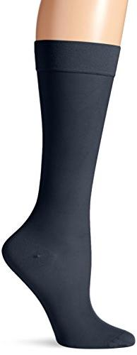 Dr. Scholl's Women's Microfiber Moderate Support Socks,  Nav