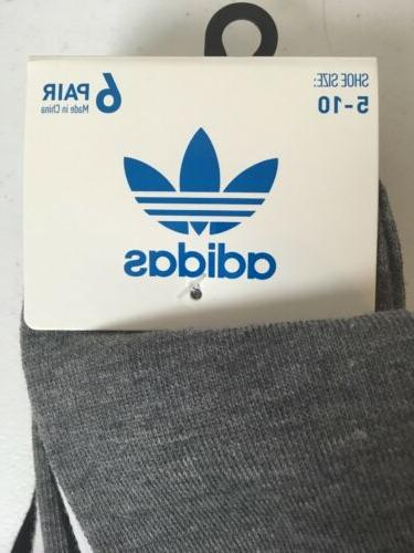 ADIDAS Originals No Show Pair Size White New!