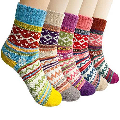 pack of 5 womens vintage winter soft