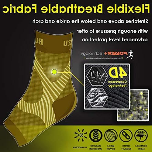 BLITZU Socks with Support, Care Compression Swelling Ankle Brace Relieve Pain Nude