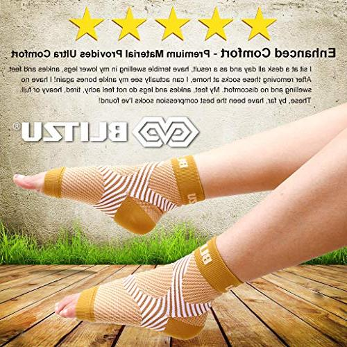 BLITZU Fasciitis with Arch Support, Foot Care Ankle Support, Pain Fast