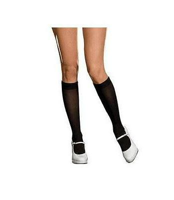 Plus Size Black Bobbi Knee Socks