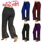 Plus Size Elegant Womens Wide Leg Long Trousers Summer Comfy