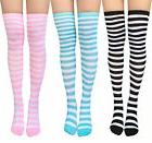 Chalier Striped Thigh High Stocking, Womens Durable Long Ove