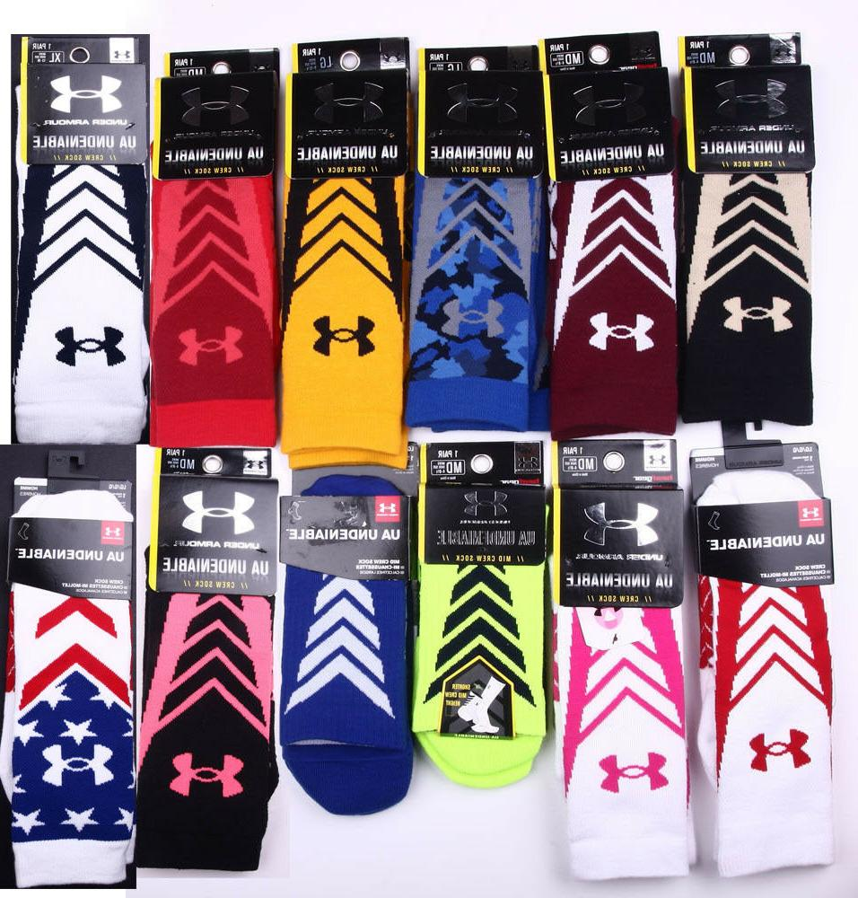 Under Armour UA Undeniable Crew Socks 1 Pair size M,L