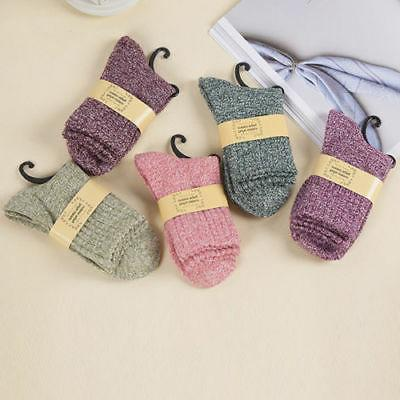 5 Womens Cashmere Sock Soft Casual Winter Xmas