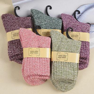 5 Pairs Wool Cashmere Thick Lady Soft Xmas Gift