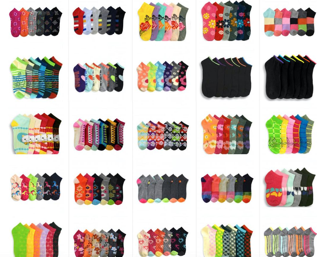 Wholesale Mixed Assorted Designs No Socks