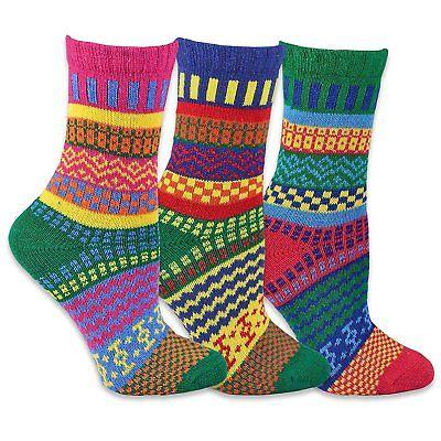 Teeheesocks Winter Crew Fun Socks for Women 3 Pairs Combo A.