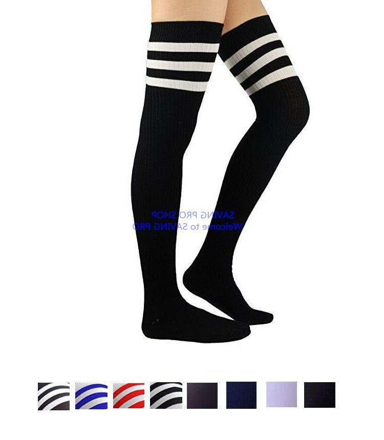 women cable knit long stripe socks over