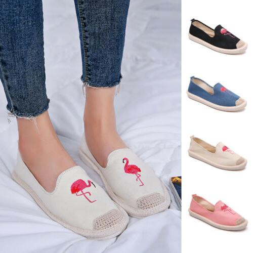 Women Classics Tom Loafers Canvas Slip-On Flats shoes Embroi