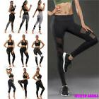 Women Fitness Mesh Workout Yoga Capris Gym Jog Slim Fit Spor