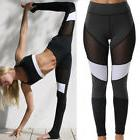 Women Mesh Yoga Fitness Legging Running Gym Spliced Sport Pa