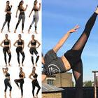 Women Mesh Yoga Fitness Legging Running Gym Stretch Sport Pa
