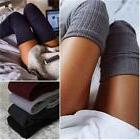 Women Over Knee Wool Knit Long Socks Winter Thigh-Highs Warm
