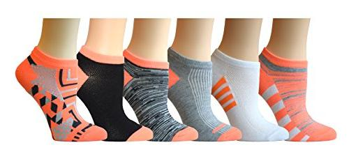 Top Step Pairs Cut Show Socks, Size 4-10,