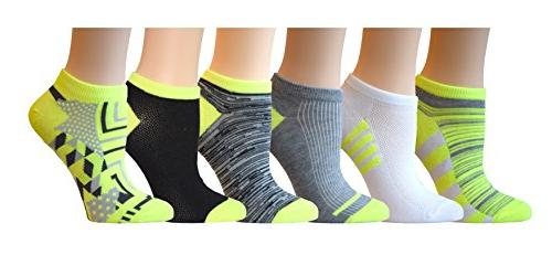 Top Step 24 Pairs Colorful Patterned Low Cut Show Socks, Size