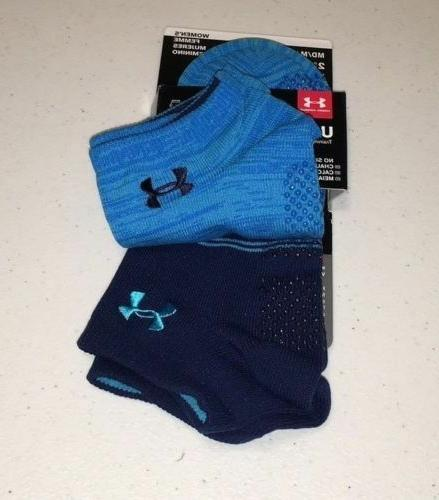 Under Armour Women's Grip No Socks 2 Pack Training