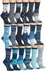 Tipi Toe Women's Ladies 18-Pairs Value Pack Snowflake Cozy S