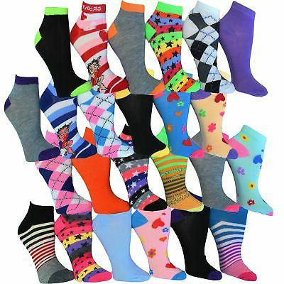 Frenchic No Ankle Spandex Socks (Pack 24