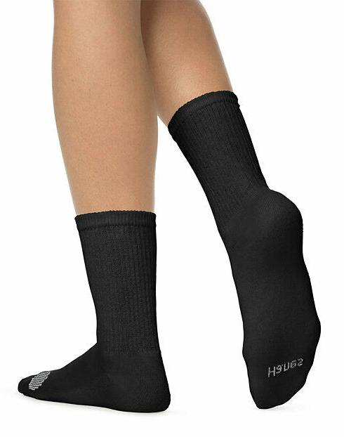 Hanes® Crew Sock 6-Pack Color COLLECTION & Softness""
