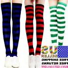 Women Stockings Socks Cotton Strip Over Knee Long Pantyhose
