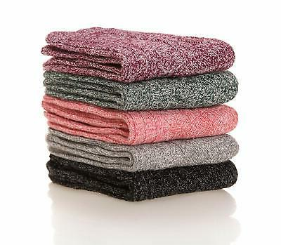 Womens Pairs Thick Casual Cotton Warm Wool Winter Socks